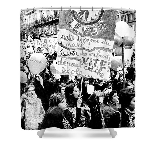 International March Of The Women In Paris November 20, 1971 Shower Curtain