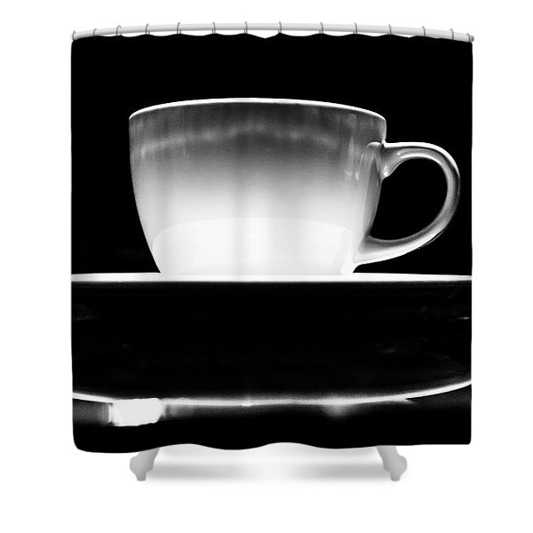 Intimidating Cup Of Coffee Shower Curtain