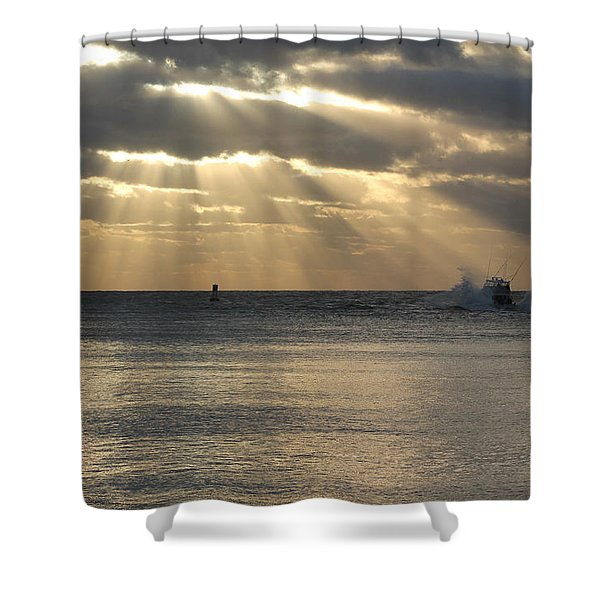 Into Dawn's Early Rays Shower Curtain