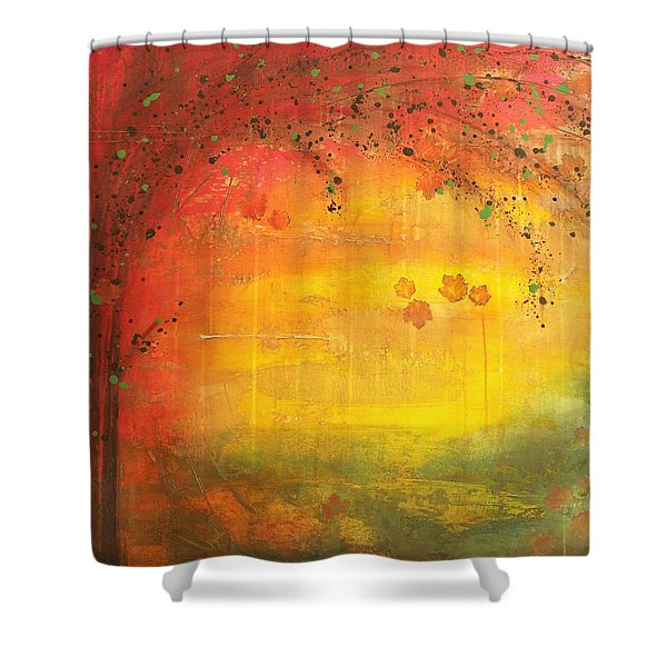 Into Fall - Tree Series Shower Curtain
