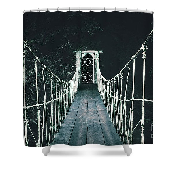 Into Mystery Shower Curtain