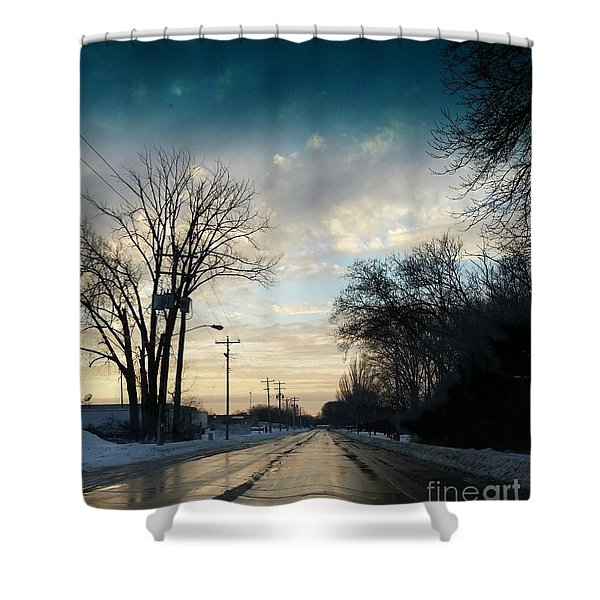 Into New Country Shower Curtain