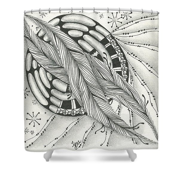 Into Orbit Shower Curtain