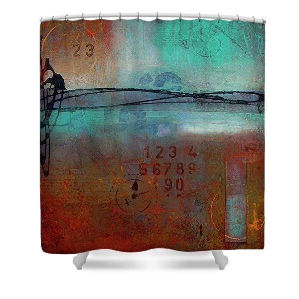 Into Retrospection Shower Curtain