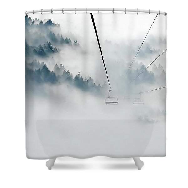 Into The Abyss Shower Curtain