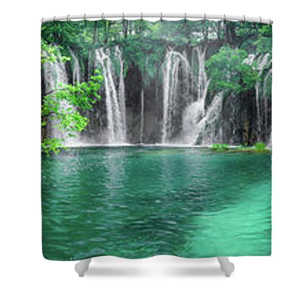 Into The Waterfalls - Plitvice Lakes National Park Croatia Shower Curtain