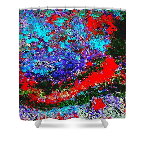 Into The Forest Of Midnight Shower Curtain