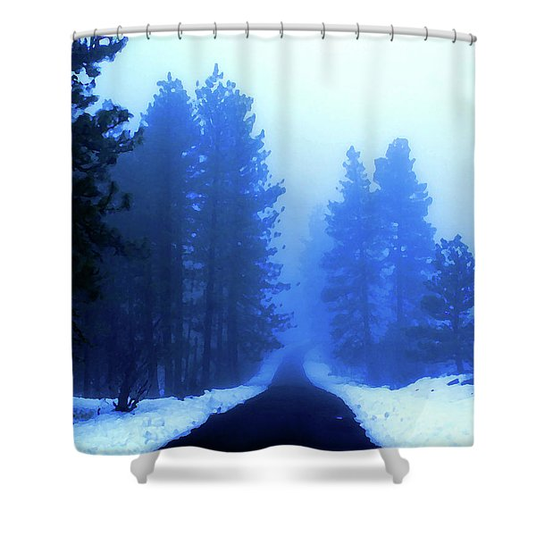 Into The Misty Unknown Shower Curtain
