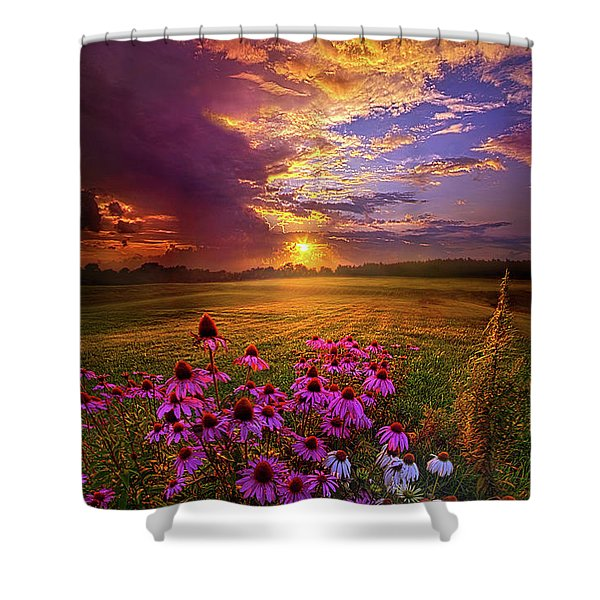 Into The Moment Shower Curtain