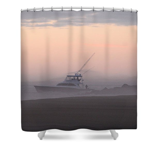 Into The Pink Fog Shower Curtain