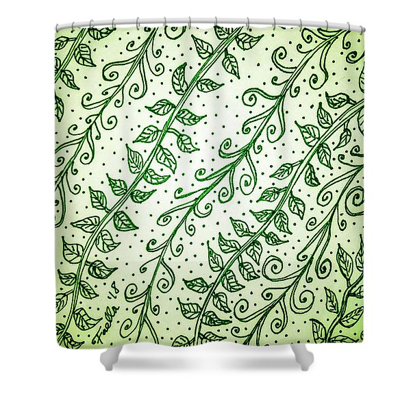 Into The Thick Of It, Green Shower Curtain