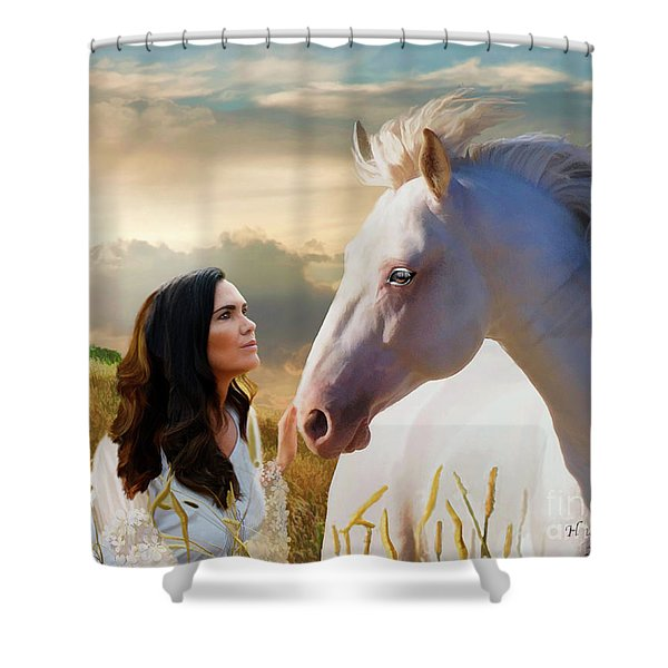 Shower Curtain featuring the digital art Into The Wind by Melinda Hughes-Berland