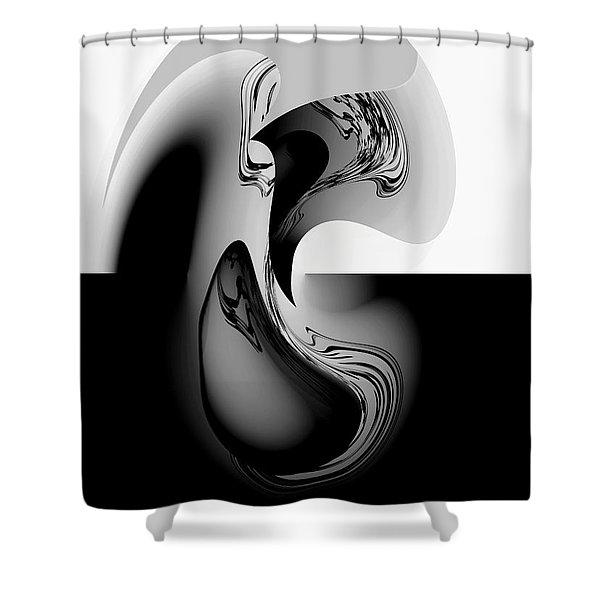 Introspection Digital Art Shower Curtain