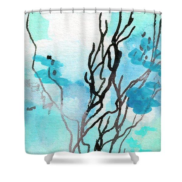 Intuitive Abstract Modern Art 20162 Shower Curtain