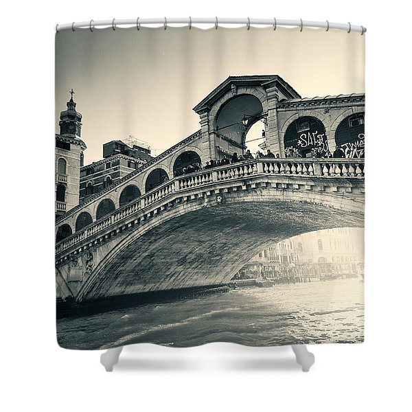 Invasion During The Dawn Shower Curtain