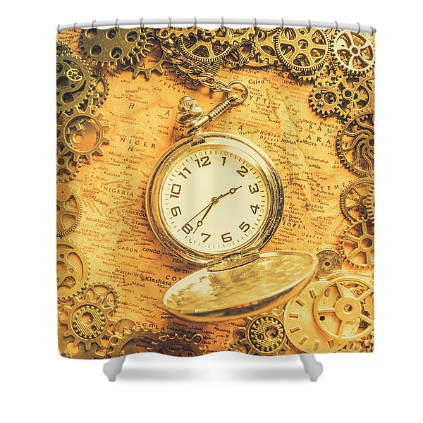 Invention Of Time Shower Curtain