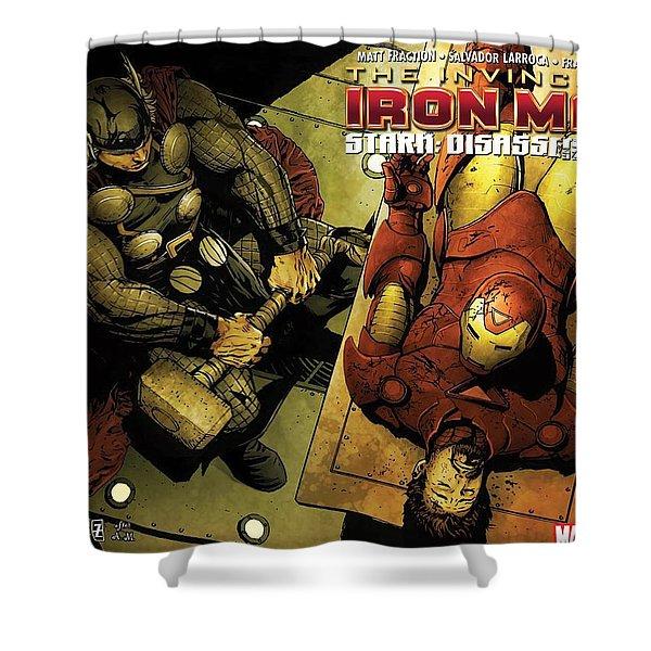 Invincible Iron Man Shower Curtain
