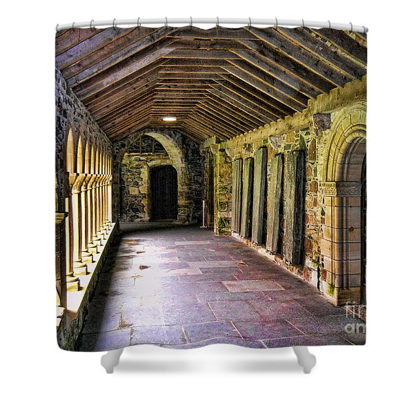 Arched Invitation Passageway Shower Curtain