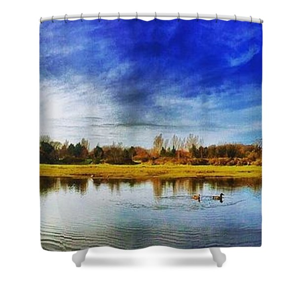 I.o.m Sulby River Shower Curtain