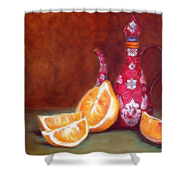 Iranian Lemons Shower Curtain