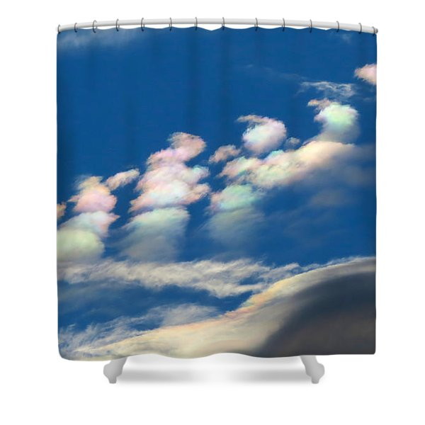 Iridescent Clouds 2 Shower Curtain
