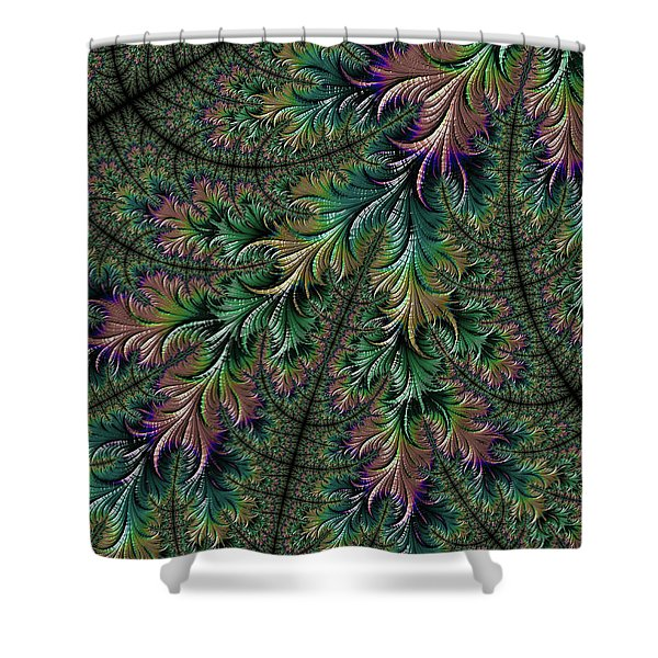 Iridescent Feathers Shower Curtain
