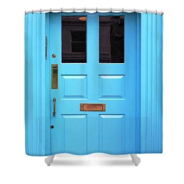 Irish Blue Shower Curtain