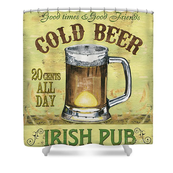 Irish Pub Shower Curtain