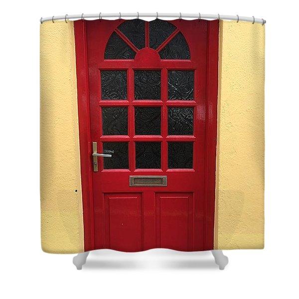 Irish Red Door Shower Curtain