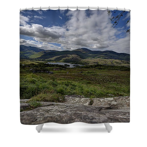 Irish Sky - Wicklow Mountains Shower Curtain