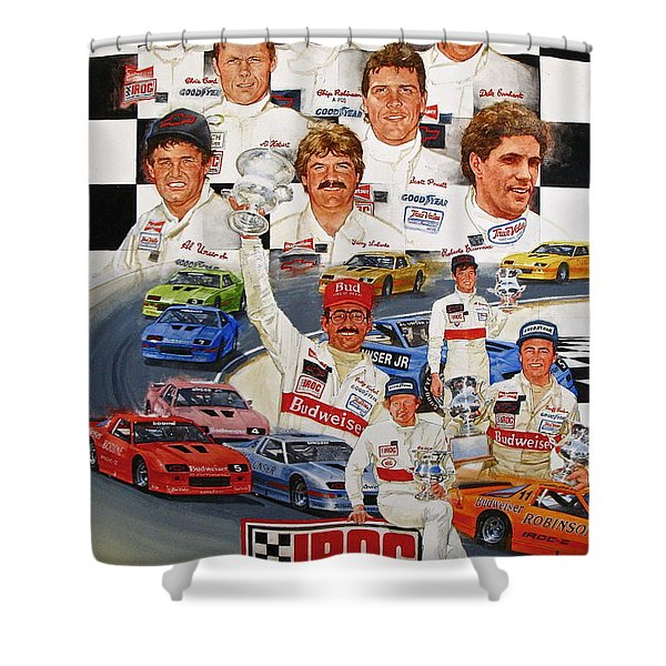Shower Curtain featuring the painting Iroc Racing by Cliff Spohn