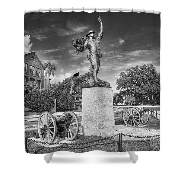Iron Mke Statue - Parris Island Shower Curtain