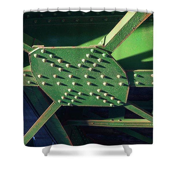 Iron Rail Bridge Shower Curtain