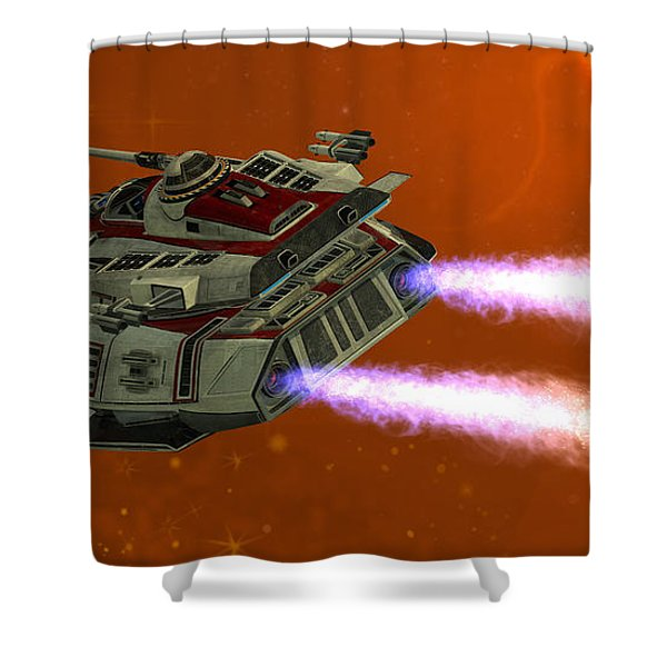Ironstar In Space Shower Curtain