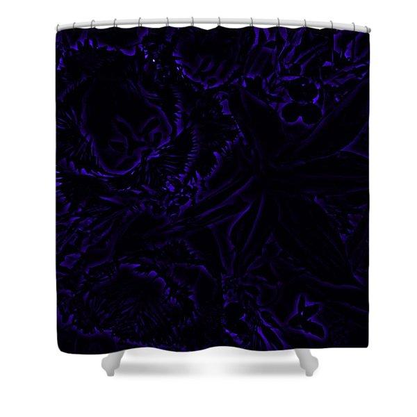 Irridescent Blue Shower Curtain