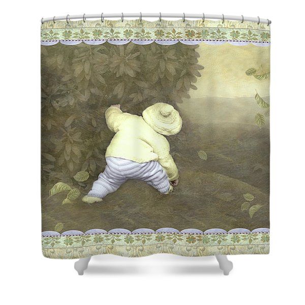 Is Bunny In Bushes? Shower Curtain