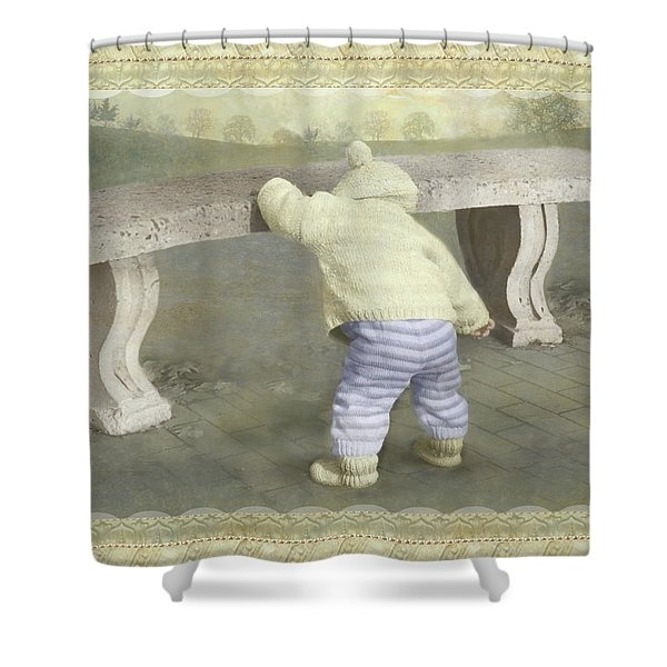 Is Bunny Under The Bench? Shower Curtain