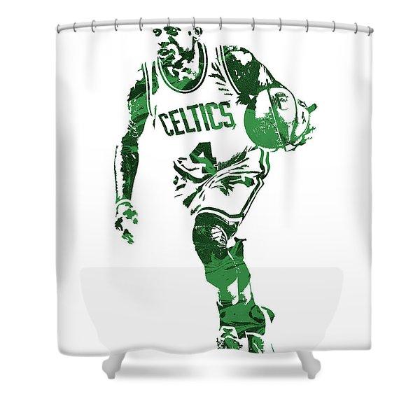 Isaiah Thomas Boston Celtics Pixel Art 4 Shower Curtain