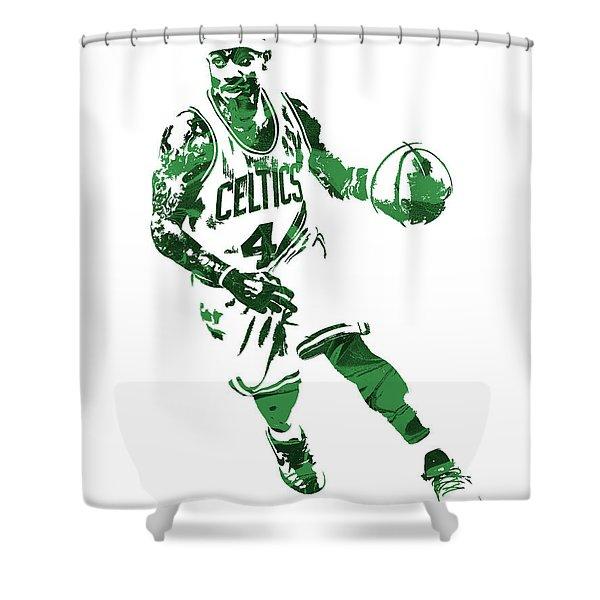 Isaiah Thomas Boston Celtics Pixel Art 6 Shower Curtain