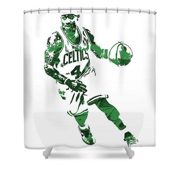 Isaiah Thomas Boston Celtics Pixel Art 6 Shower Curtain