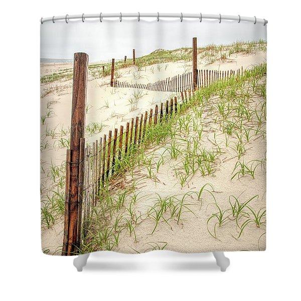 Island Beach Dunes Shower Curtain