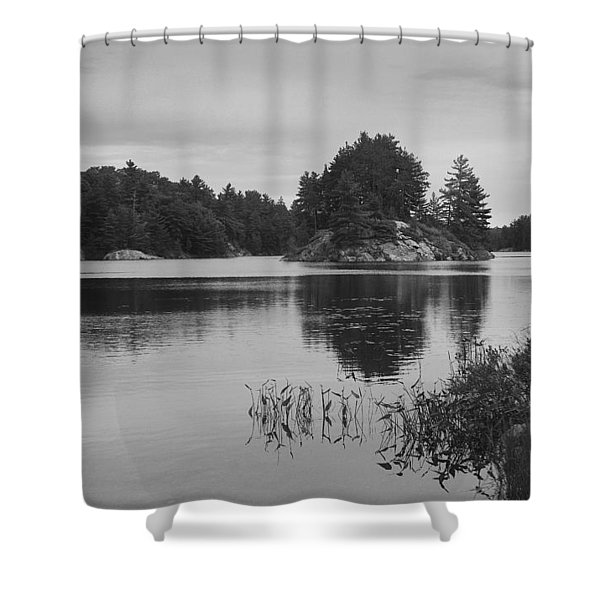 Island-carlyle Lake-killarney-bw Shower Curtain