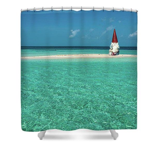 Island Gnome Shower Curtain