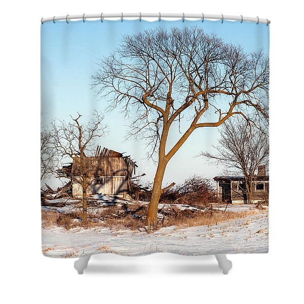 Island In The Snow Shower Curtain