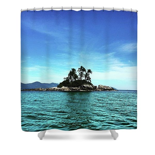 Botina Island Shower Curtain