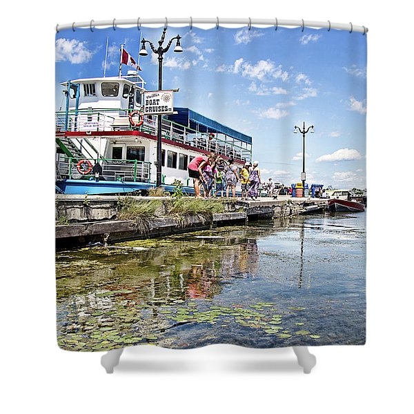 Island Princess At Harbour Dock Shower Curtain