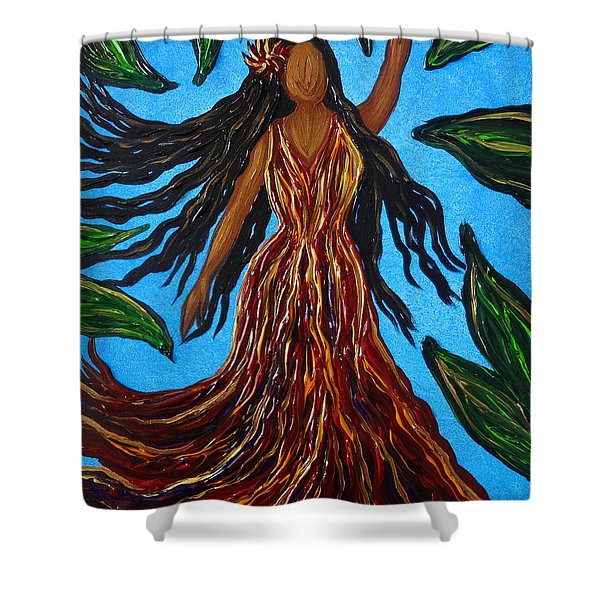 Island Woman Shower Curtain