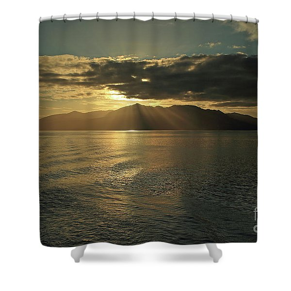 Isle Of Arran At Sunset Shower Curtain