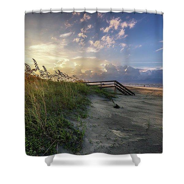 Isle Of Palms Sunstar Shower Curtain