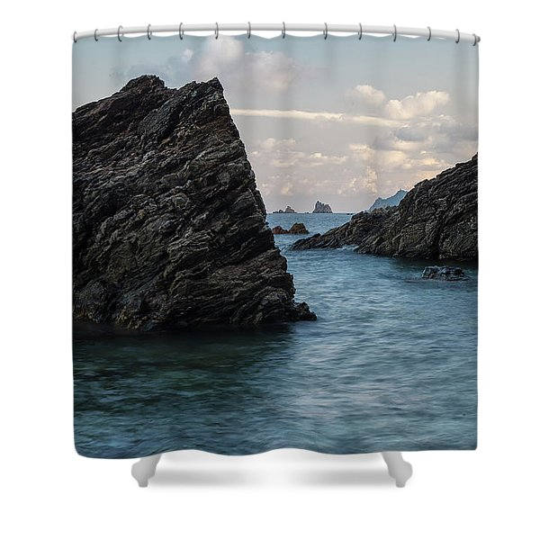 Islets At The Bottom Of The Rocks Shower Curtain